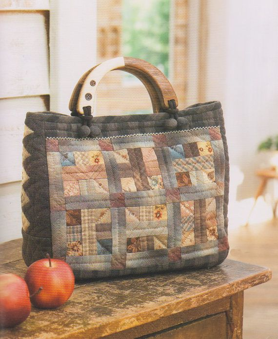 PDF Pattern Tutorial Simple quilt  bag handbag purse sewing handmade