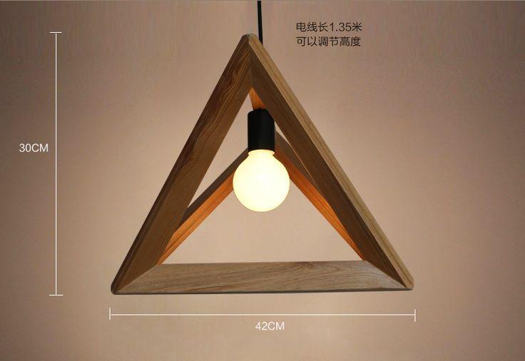 餐厅吊灯宜家创意酒吧工程灯具现代简约木头框艺术餐客厅书房吊灯-tmall.com天猫