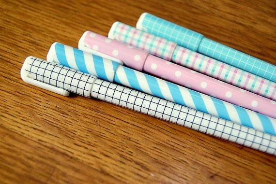 Gel ink pen korean cute pastel kawaii by DearCocoSupplies on Etsy