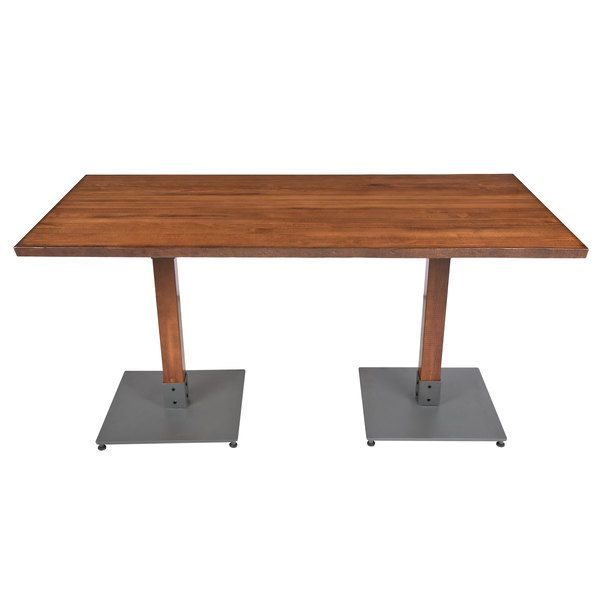 Lancaster Table Seating 30 X 60 Antique Walnut Solid Wood Live