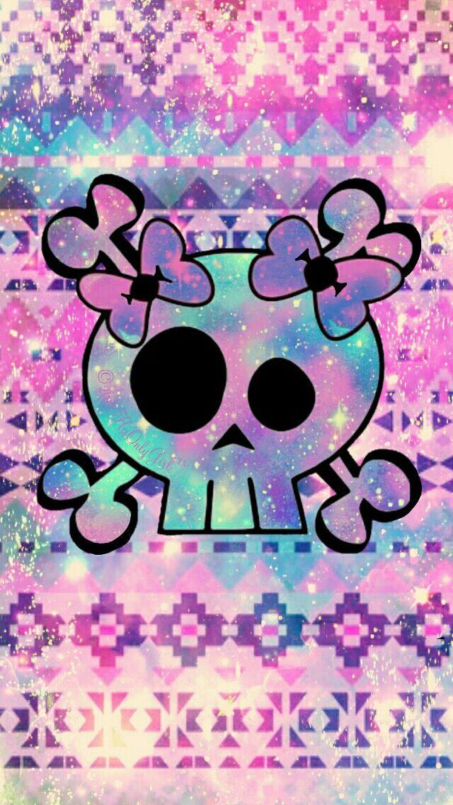 Cute Sugar Skull Wallpaper Punk Skull Wallpaper Pimp My Phone In 2019 Skull