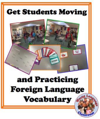This a very effective go-to activity that requires very little prep and gets students moving and using the target language immediately. It's also a great way to use a set of memory/concentra…