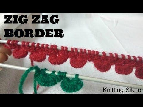 Zig-Zag Knitting Stitches - YouTube