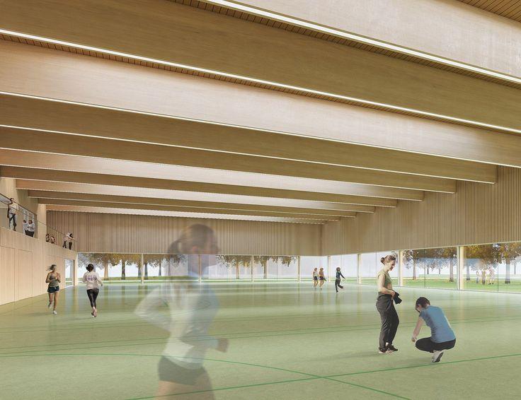 Perfect Kreissporthalle Tuttlingen Preis f r Broghammer Jana Wohlleber Architekturwettbewerb Wettbewerbsperspektive von Freiburg