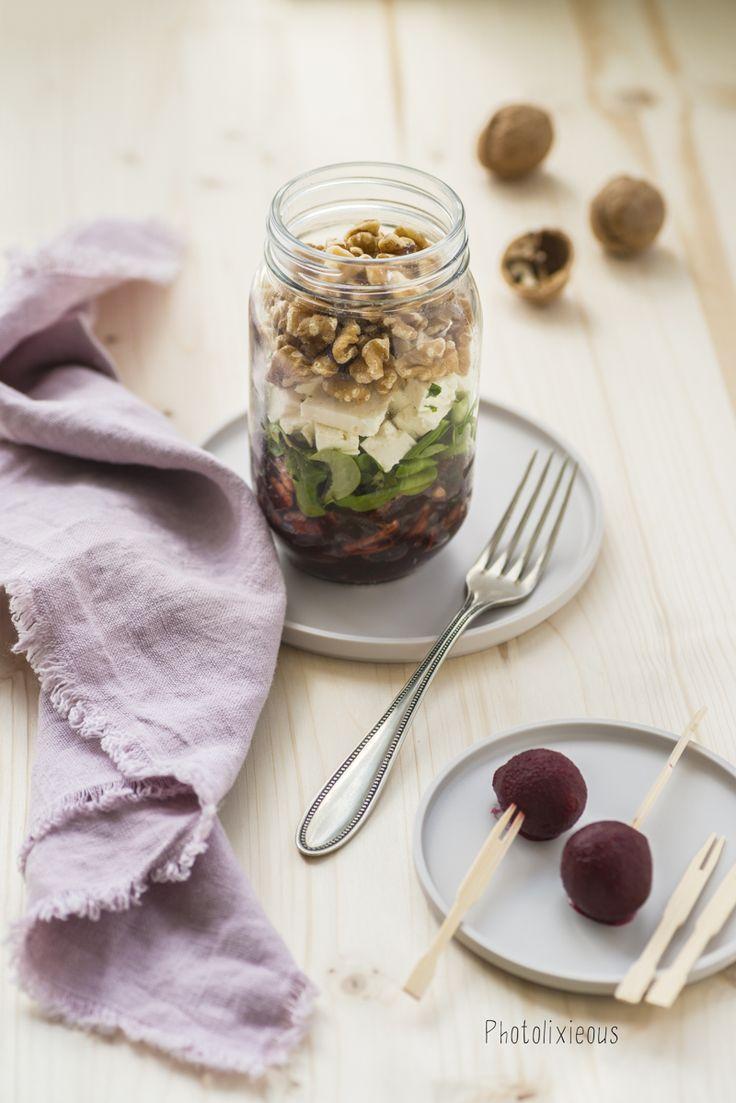 einfach und lecker – Rote-Beete-Salat mit Fetakäse aus dem Glas [Werbung]