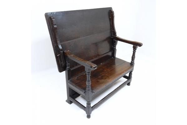Rare #Antique Oak Monk's Bench And Table C1670 | Vinterior London  #vintage #furniture #home