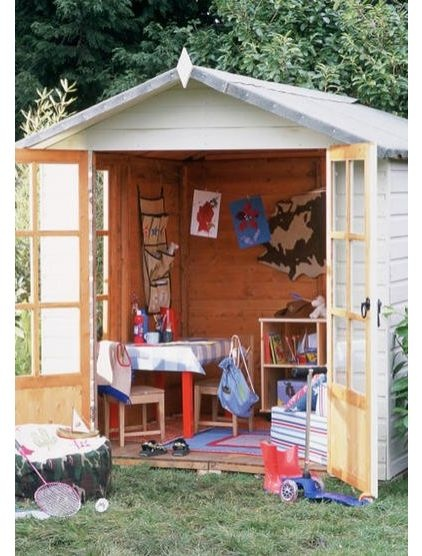 Best Playhouse Images On Pinterest Playhouse Ideas Backyard