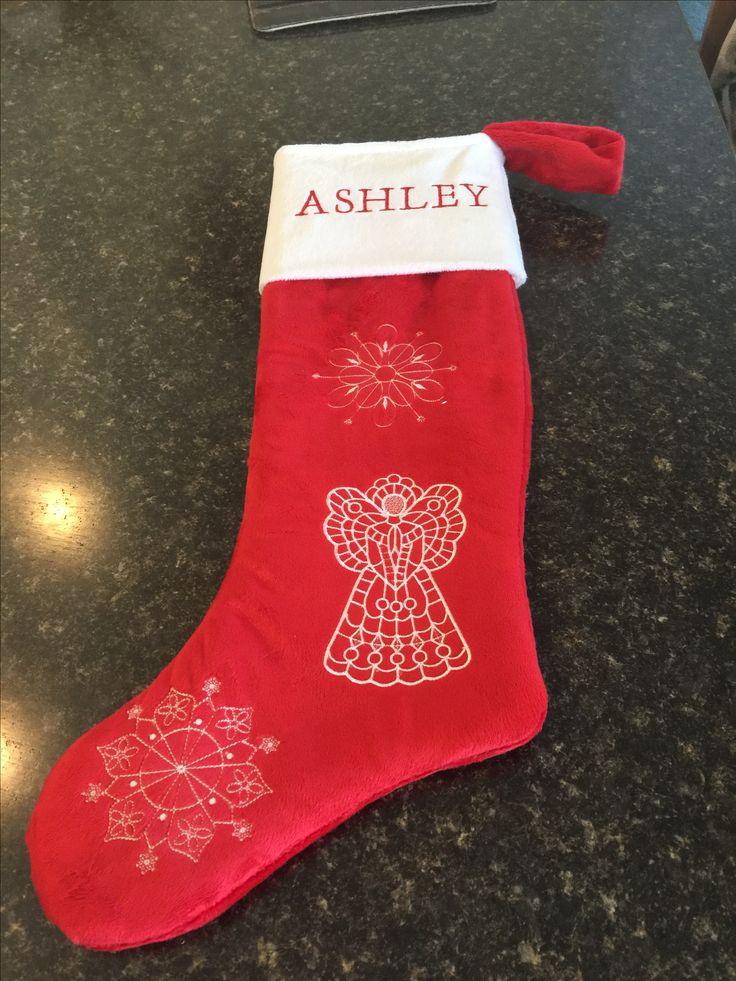 Ashley Christmas stocking I made in 2016
