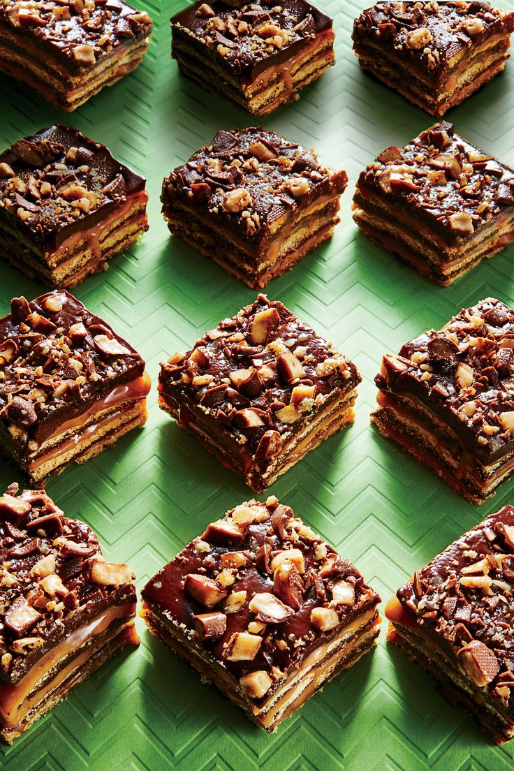 These gooey bars will be your new favorite no-bake cookie. No-Bake Fudgy Toffee Bars - Southern Living
