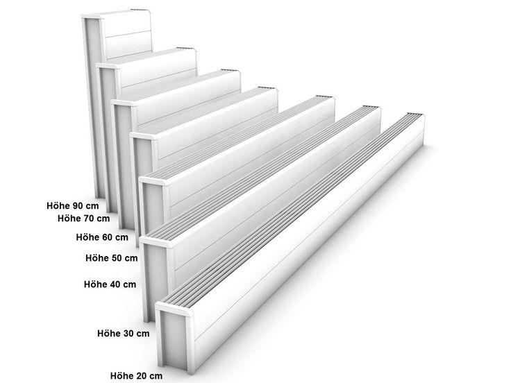 Heizkörper 30 x 13 x ab 40 cm ab 330 Watt Heizkörper Bauhöhe 300 mm Konvektor Heizleistung bei 75/65/20°C lieferbare Längen 40 - 300 cm Wärmeleistung 330 - 2478 Watt Heizkörper Bauhöhe 300 mm Zubehör und andere Abmessungen:     andere Größen: Höhe 20, 30, 40, 50, 60, 70, 90 cm - Länge 40 - 300 cm, Tiefe 13, 18, 23 cm     Wärmeleistung 262 - 11310 Watt     Ventil-Garnitur verchr.: Mehrpreis 91,00 EUR inkl. MwSt. Standardfarbe: weiß RAL 9010 Füße in grau Heizkörper Bauhöhe 300 mm günstig…