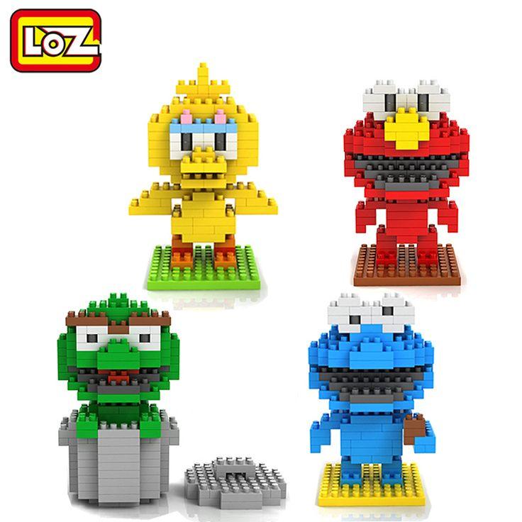 LOZ Diamond Building Blocks Sesame Street Toys Elmo Big Bird Cokkie Monster Oskar The Grouch Figure Toy 14+
