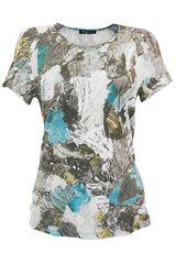 Frank Walder - shirt met tropische bladeren
