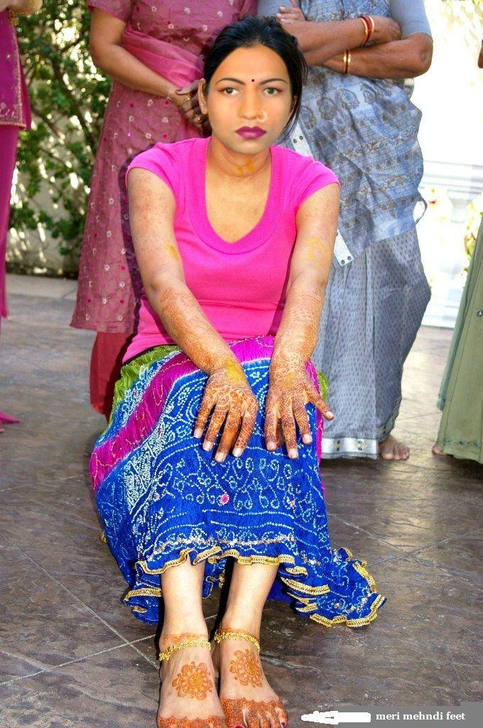 echte indische Hausfrauen