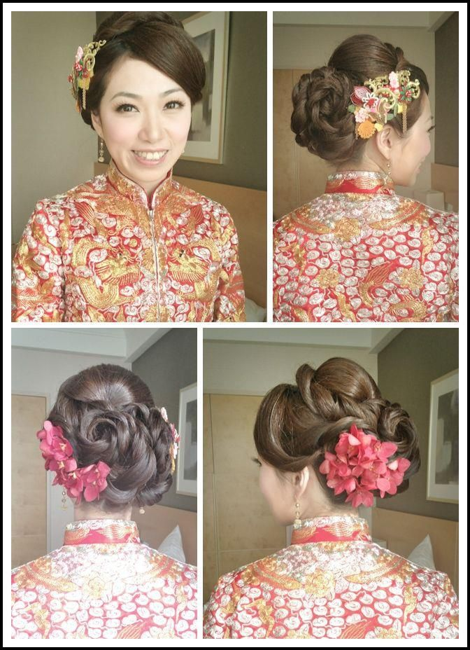 Bridal in chinese traditional style. Like it but not sure if stylist can do it