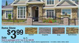 Stone Master® Roma Stone Masonry Veneer from Menards $3.99 >
