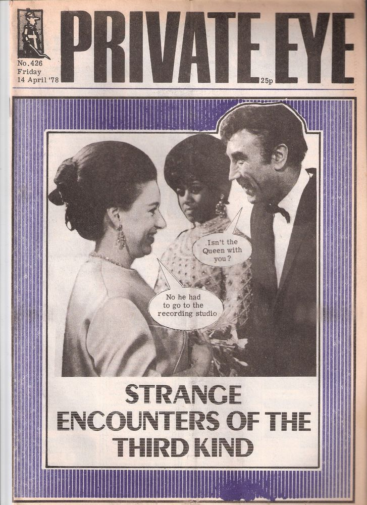 Private Eye Magazine # 426 14 April 1978 Frankie Howerd  Princess Margaret Cover