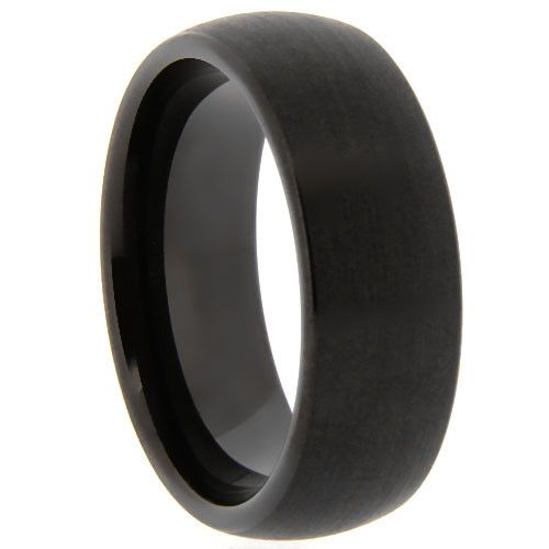 All Black Oval Tungsten ring. Matte center with black polished edges. Comfort fit! SALE $ 69.94