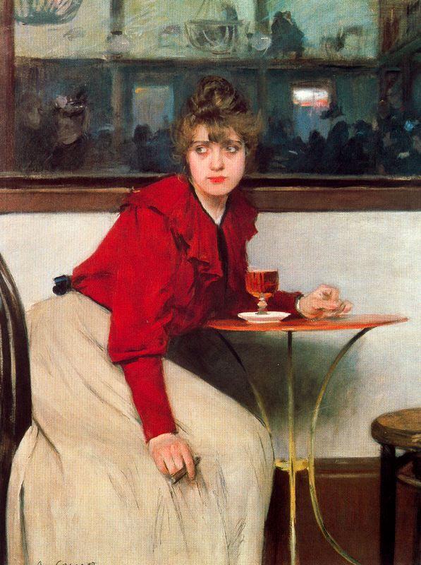 Madeleine o l'absenta (en el Moulin de la Galette, 1892) _Ramon Casas