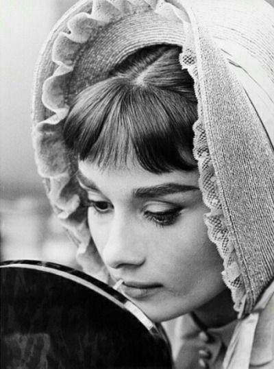 Audrey Hepburn On the set of War and Peace, 1956.