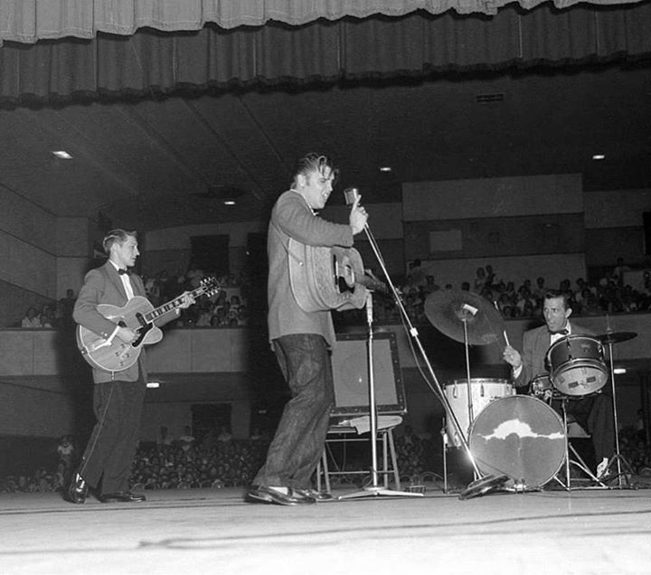 "Wednesday 8:30 PM, Augusta, Georgia. Presley returned to Bell Auditorium on June 27, 1956, (1st show was on March 20).  - Presley was reported to have sung eight songs:  ""Heartbreak Hotel,"" ""Long Tall Sally,"" ""I Was the One,"" ""Baby Let's Play House,"" ""I Want You, I Need You, I Love You,"" ""I've Got a Woman,"" ""Blue Suede Shoes"" and ""(You Ain't Nothin' But a) Hound Dog"", which he would record a month later."