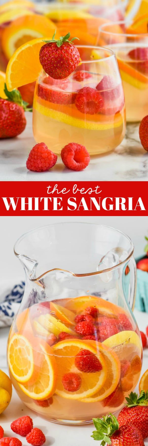 This White Sangria Recipe Comes Together Fast With Just A Few Ingredients And Is So Perfect For In 2020 White Sangria Recipe Sangria Recipes White Wine Sangria Recipe