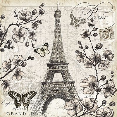 RB8281TS <br> París en la floración que <Br> 12x12