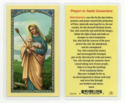 sainte genevieve girls Saint genevieve also known as  28 october (translation of relics) profile when she was seven years old, genevieve met saint germanus of auxerre  girl.
