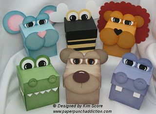 Punch Art Box Animals