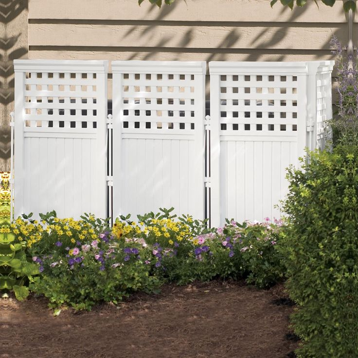 Suncast 3.75-ft. Vinyl Privacy Screen Enclosure | from hayneedle.com