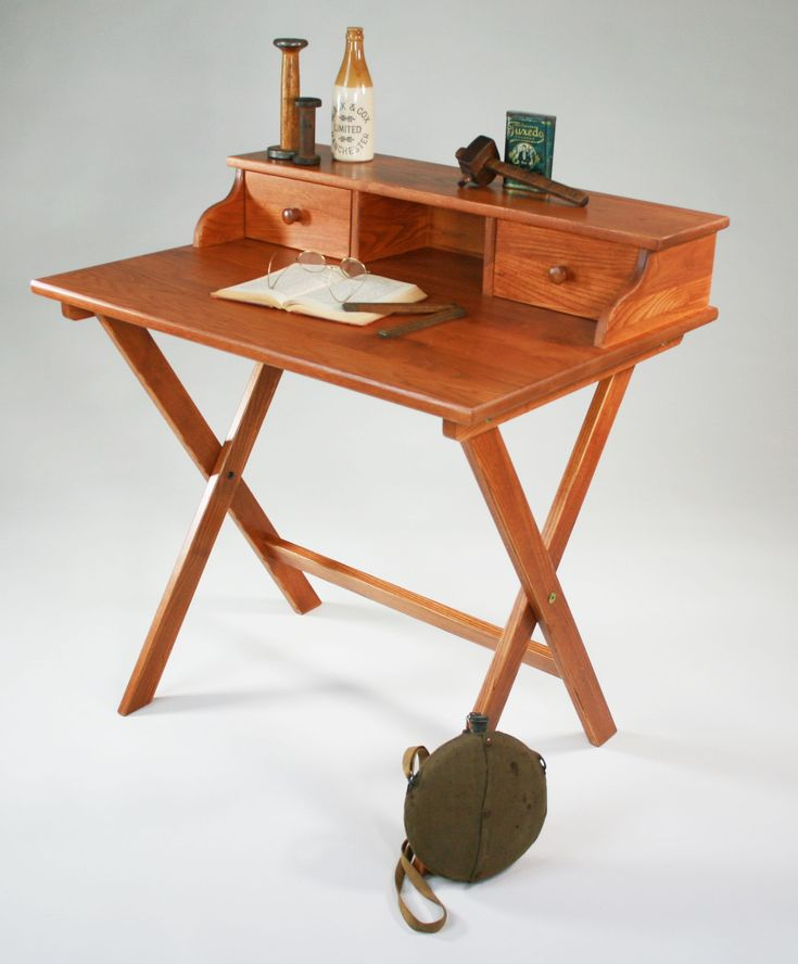 Solid Wood Furnitures: Campaign Desk -- Might Work In A Small Space Via