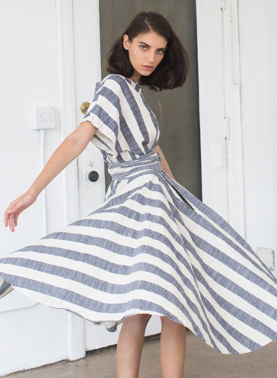 Momo Suzuki from Black Crane really knows how to create an elegant, sculptural garment in an easy, beautiful textile. Some of the pieces seem to be elusive (or likely sold out!), but my current Bla…