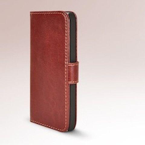 Executive Brown Apple iPhone 5 5s Wallet Leather Flip Case – Bracevor