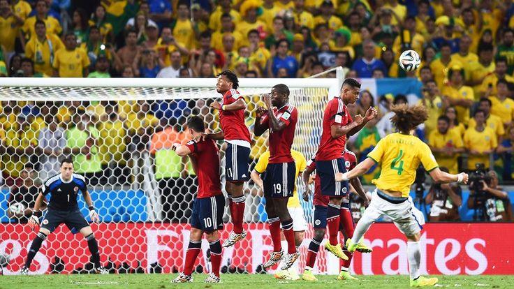 ¡Golazo de David Luiz! #MundialBrasil2014