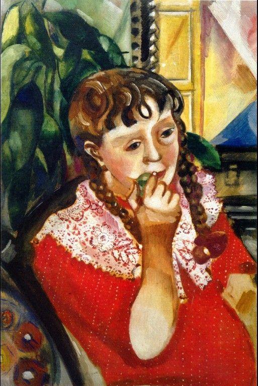 Marc Chagall Portrait Of Sister Maryasinka 1914
