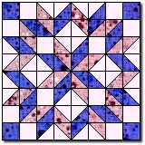 Carpenter's Wheel (or Carpenter's Star) tutorial by quiltcache