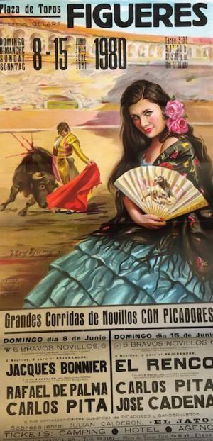 Plaza de Toros #Figueres Grandes Corridas  Affiche mises en vente le vendredi 15 septembre 2017, par Damien Voglaire - Les ventes Ferraton.  Dernier jour d'exposition mercredi 13 septembre de 10 à 18h.   Détails sur www.ferraton.be #affiche #poster