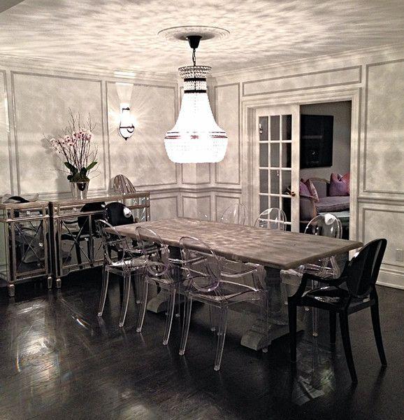 Grey Wash Trestle Dining Table