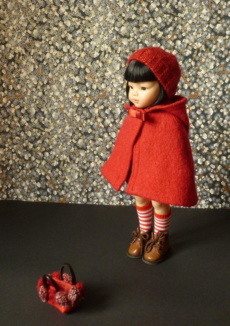 """Fiche Patron """"le petit chaperon rouge"""", pour poupée de 32 cm type Chéries: """"Les petites : Jeux, jouets par minacouture"""