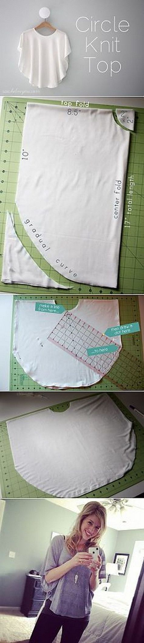 Circle Knit Shirt Tutorial saved to crafts as well