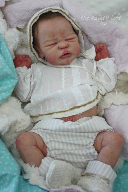 the dainty loft: 2016 Silicone Full Body Quinlynn #4 , REBORN ~ painted by ' the dainty loft '. A baby by KrisC