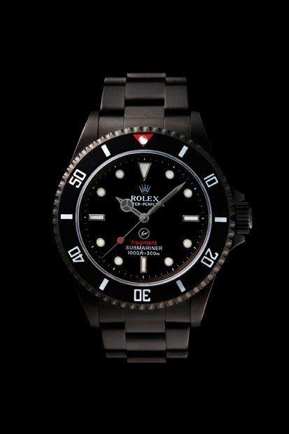 Black Stainless Rolex Submariner.