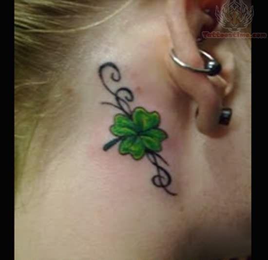 celtic tattoos for women | Shamrock Tattoo For Women