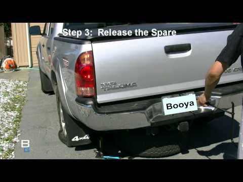 High Def tire change on Toyota Tacoma truck with JVC HM400 - YouTube