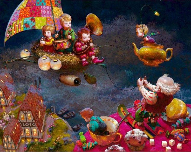 Художник Виктор Низовцев. Детские иллюстрации. Дедушкины забавы