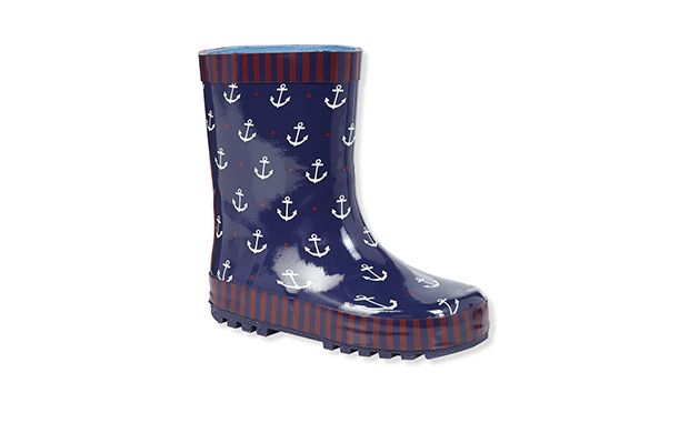 """Anchor Wellies. """"He'll love jumping in puddles in these cool nautical inspired wellingtons."""""""