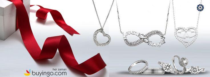Sevgililer Gününde Sevgilinize En Özel Hediye :Gümüş Takı #gümüş #buyingo #takı #aksesuar #moda #kadınmodası #hediye #sevgililergünü #14Şubat #kadın #kolye #yüzük #küpe #bilezik #bileklik #halhal #tesbih