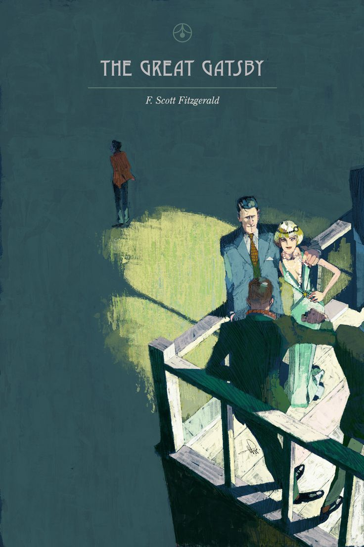 Self initiated book cover interpretation of The Great Gatsby by F. Scott Fitzgerald - illustration by Marc Aspinall