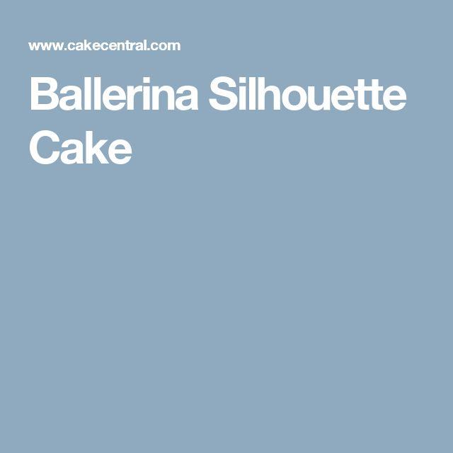 Ballerina Silhouette Cake