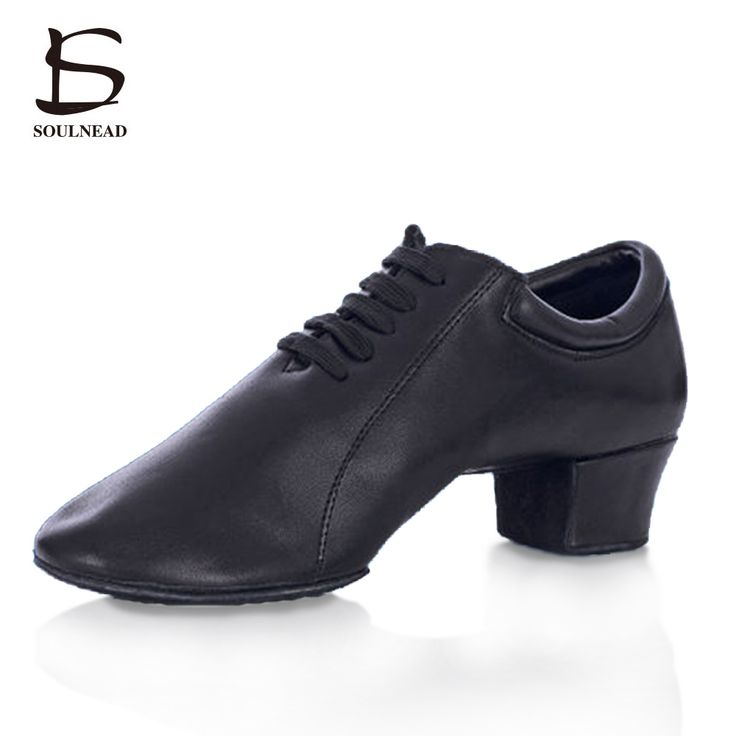 High Quality Men's Latin Shoes Comfortable durable Cowhide Leather Ballroom Tango Tap Adult Heeled Profession Latin Dance Shoes