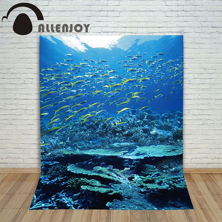 >> Click to Buy << Allenjoy ocean photography background Marine fish coral submarine backdrop mysterious elegant photocall beautiful #Affiliate